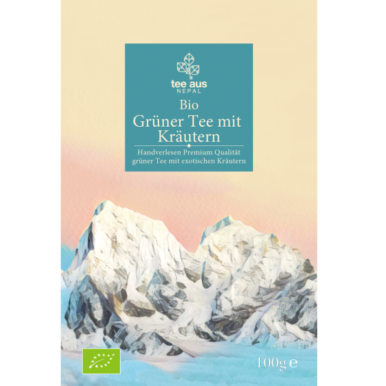 Bio Grüner Tee mit Kräuter Tee aus Nepal