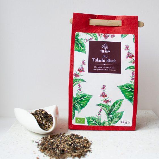 Bio Tulashi Black Bio Tulsi Tee aus Nepal